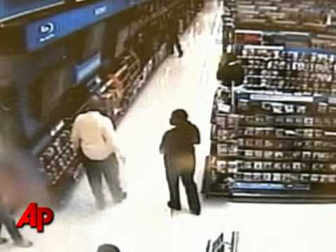 Raw Video: Man Smashes TVs at Wal-Mart