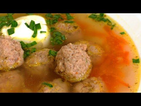 ОЧЕНЬ ВКУСНЫЙ СУП С ФРИКАДЕЛЬКАМИ. Soup with meatballs