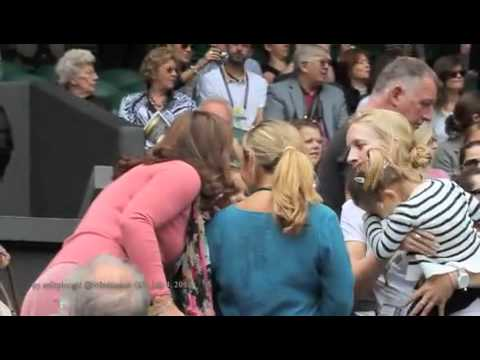Roger Federer Twin Daughters Welcoming Papa at 2012 Wimbledon QF