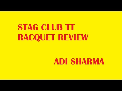 Stag Club Table Tennis Racquet Review | ADI SHARMA