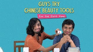 Guys Try Chinese Beauty Tools For The First Time | Ft. Kanishk & Akshay | Ok Tested