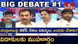 చంద్రబాబుపై బీజేపీ నేతలు విమర్శలు ఎందుకు చేశారు? | Debate On AP TDP-BJP Fight #1 | hmtv News