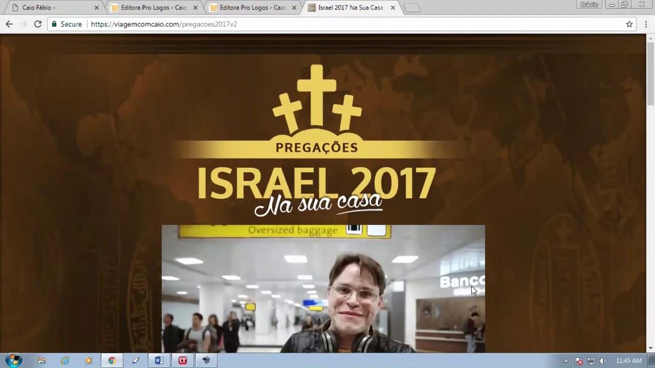 Quer receber as pregações que o Caio fez na viagem a Israel? Acesse: viagemcomcaio com