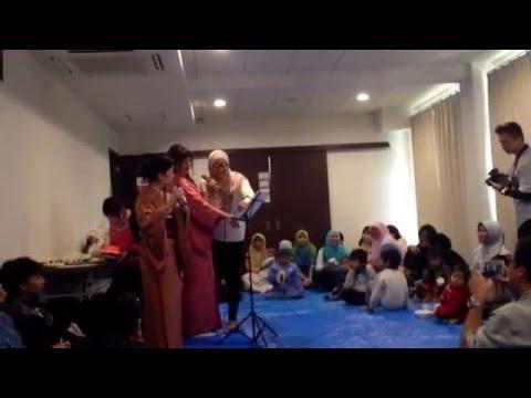 Lagu laskar pelangi di nyanyikan oleh orang jepang