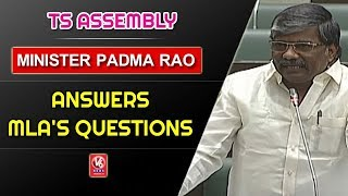 Excise Minister Padma Rao Answers MLA's Questions In Telangana Assembly