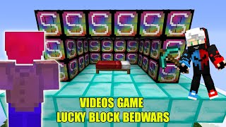 MINI GAME : VIDEOS GAME LUCKY BLOCK BEDWARS ** ĐẠI CHIẾN LUCKY BLOCK VIP - NOOB NGHỊCH DẠI