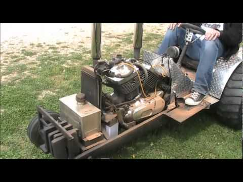 Pulling Tractor With A Motorcycle Engine Youtube