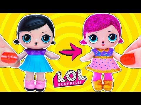 LOL SURPRISE ИЗ КИТАЯ в Glitter Серию SUPER B B! ООАК Своими руками ЛОЛ КУКЛЫ Double Bubble