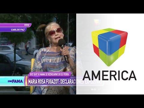 María Rosa Fugazot asegura que su mamá reencarnó en su perra
