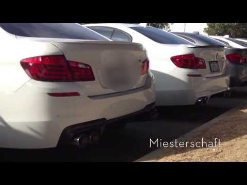 BMW F10 M5 Exhaust Comparison: Akrapovic, 3D Design, Eisenmann, Meisterschaft