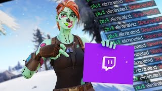 Killing Twitch Streamers #18 - Fortnite Battle Royale