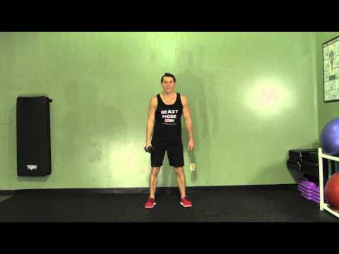Dumbbell One Arm Snatch - HASfit Olympic Exercise - Olympic Lift Form Image 1