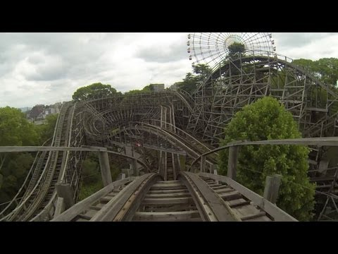 Elf Wooden Roller Coaster POV Hirakata Park Japan