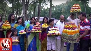 Telangana NRI Association Celebrates Bathukamma Festival  USA NRI News