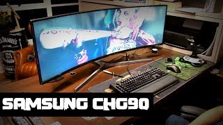 "Monitorzão DA P%RR@ super ultra-wide 49"" curvo 144Hz ‹ samsung chg90 › QLED Gaming Monitor"