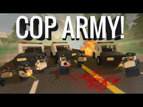MASSIVE COP ARMY ATTACK!!! - Unturned School RP thumbnail