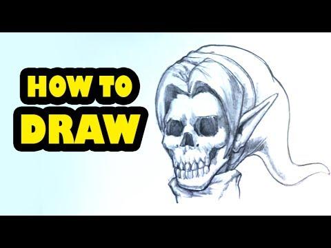 How to Draw a Link Skull -Legend of Zelda - Draw Tattoo Art
