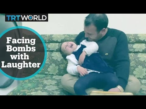 TRT World meets baby girl taught to laugh when bombs fall
