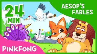 The Old Lion and the fox and 7+ songs| Aesop's Fables | + Compilation | Pinkfong Songs for Children