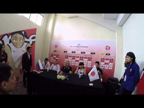 FIVB Volleyball Girls' U18 World Championship russia x Japan Press conference