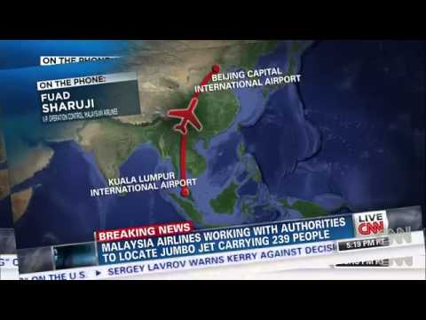 Malaysia Airlines Flight 370 Crashes Carrying 239 people