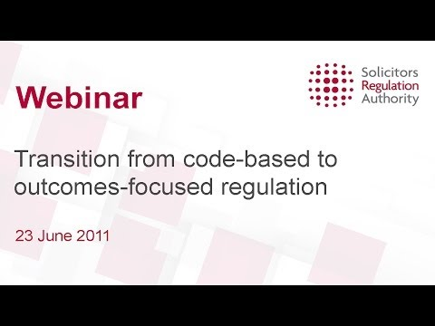 In this video Helen Venn and Nicola Taylor talk about how outcomes-focused regulation will affect small businesses. The question and answer session starts at 40m15s.