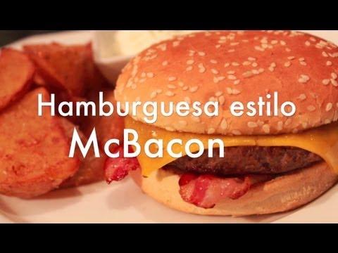 Hamburguesa McBacon casera estilo McDonalds - Recetas de cocina