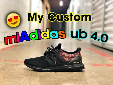 """*REVIEW* miAdidas Ultra Boost 4.0 Rainbow """"Multi-Color""""   Unboxing & On Foot   Same Great Quality!!"""