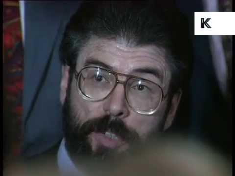 1990s Press Conference Gerry Adams