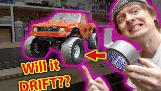 Duct Tape RC Drift Tires - Will it work? Traxxas TRX-4 & X-Maxx