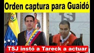 TSJ pide los ganchos para Guaidó
