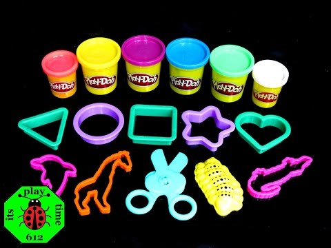 Play-Doh | itsplaytime612 BIG BARREL FUN FACTORY Learning Colors For Kids Toddlers