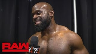 Apollo Crews on being the first opponent on Kurt Angle's farewell tour: Raw Exclusive, Mar. 11, 2019