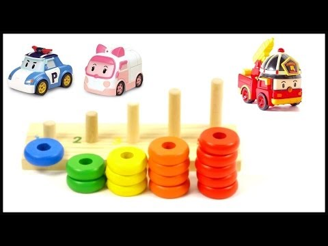 Robocar Poli Toy Collection: Color Pyramid Live Demo Review: Learn English Counting (ABC 123)