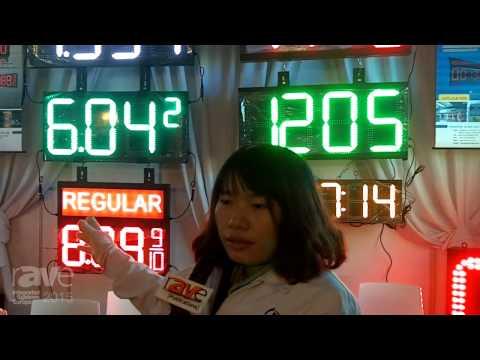 ISE 2015: Shenzhen Glare-LED Optoelectronic Co. Previews LED Gas Price Signage