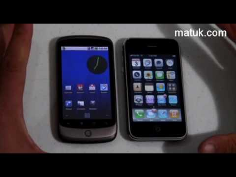 Comparativo del Nexus One de Google y el Iphone
