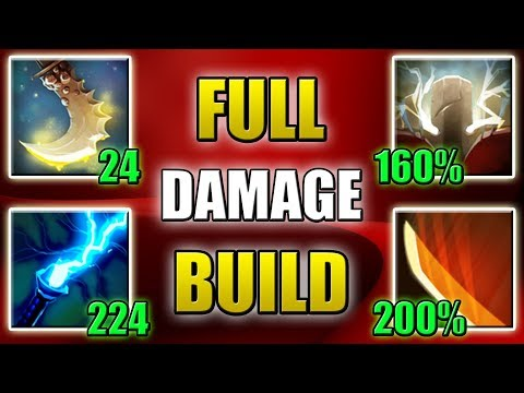 Quadruple Damage Build [The most powerful Right Click] Dota 2 Ability Draft