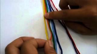 Cách thắt vòng tay từ những sợi chỉ