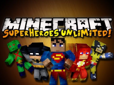 Minecraft Superheroes Unlimited Mod - SUPERMAN, BATMAN, & MORE! (HD)