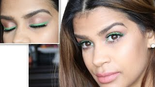 Lightweight Summer Everyday Makeup|Green Liner Tutorial