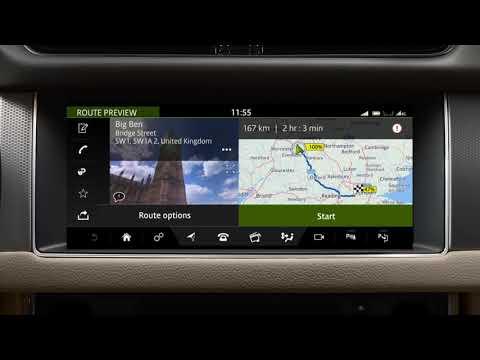 Jaguar XF 19MY   InControl Touch Pro Navigation - Entering a Destination