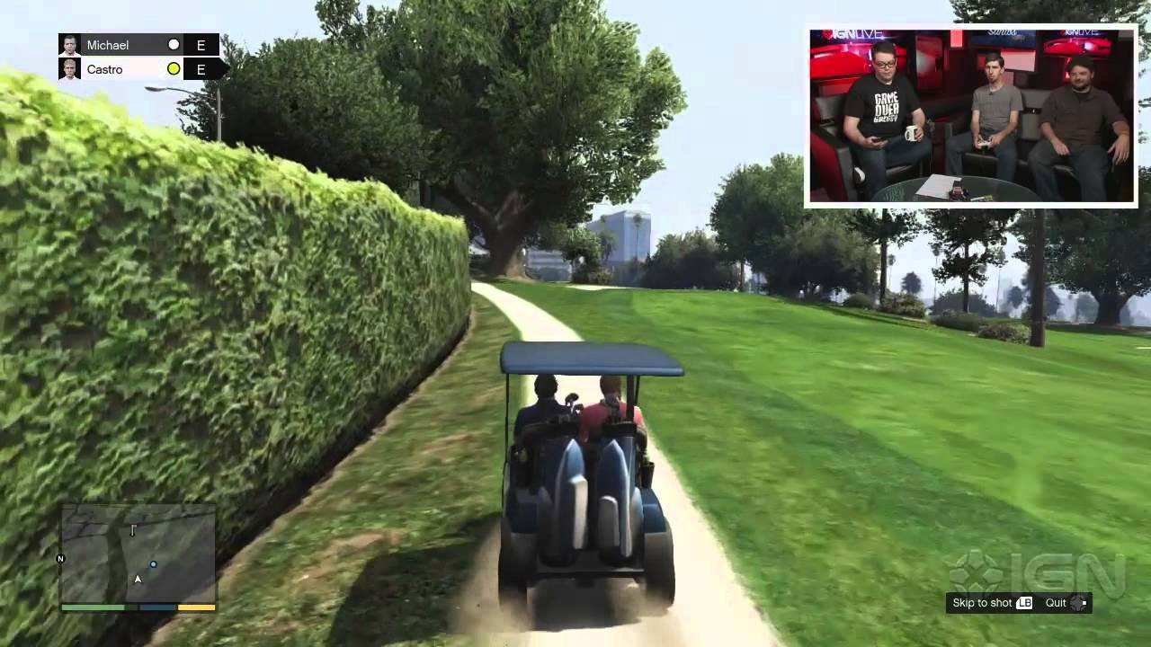 Gta 5 playing golf ign live youtube