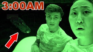 EXPLORING THE POND AT 3AM!! 😱(SCARY)