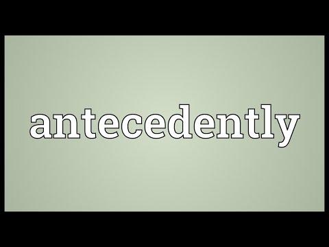 Header of antecedently