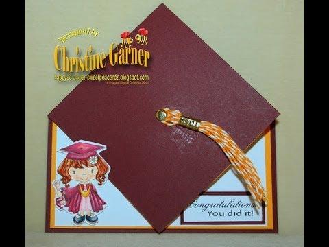 Graduation Hat Card Tutorial