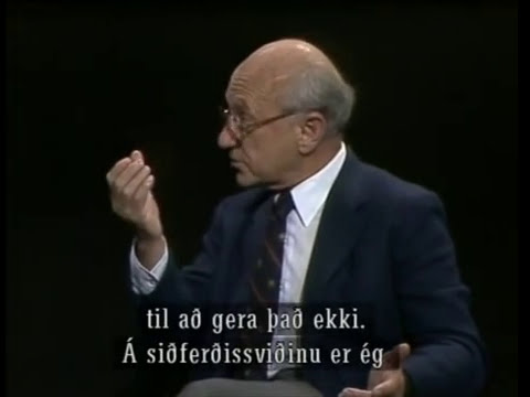 Milton Friedman on RUV (Icelandic State Television) in1984