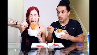 SPICY NOODLE CHALLENGE 2X WITH MY BESTFRIEND!! | Salice Rose