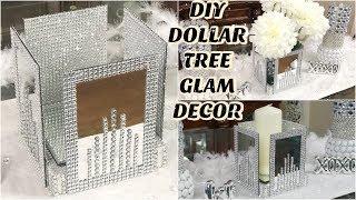 DIY DOLLAR TREE  GLAM MIRROR  DECOR | DIY GLAM HOME DECOR IDEAS