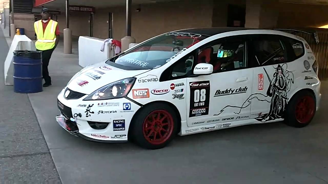 note honda fit ge8 at redline time attack 2010   youtube