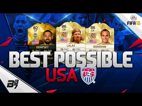 FIFA 16 | THE BEST POSSIBLE USA SQUAD! w/ DONOVAN AND LALAS!